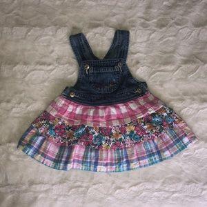OshKosh B'gosh overall, ruffle dress. 6 months.